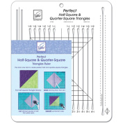 Perfect Half-Square & Quarter-Square Triangles Ruler-25cm - 1.3cm x 32cm