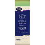 Single Fold Satin Fancy Blanket Binding 5.1cm 4-3/4 Y