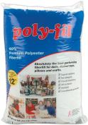 Fairfield Poly-Fil Premium Polyester Fibre, White, 1 Bag, 350ml Multi-Coloured