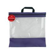 Lyle 84456 Seeyourstuff Clear Storage Bags 16 in. x 16 in. -Purple