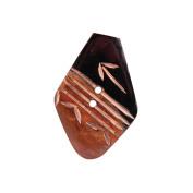 Handmade Horn Button, Diamond Striped