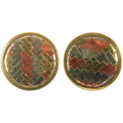 Handmade Brass Buttons-Circle 2/Pkg
