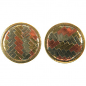 Handmade Brass Buttons-Circle 2/Pkg