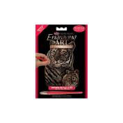 """Mini Copper Foil Engraving Art Kit 13cm X7""""-Tiger & C"""