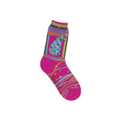 K Bell 85079 Laurel Burch Socks-Matisse-Magenta