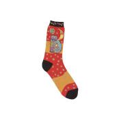K Bell SOCKS-1073 Laurel Burch Socks-Celestial Cat-Orange