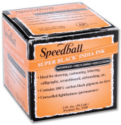 Speedball Super India Ink 60mls-Black
