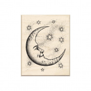 Inkadinkado Mounted Rubber Stamp 6.4cm x 5.1cm -Crescent Moon