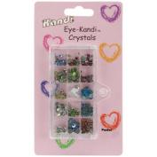 Kandi Corp HotFix Eye-Kandi Crystals, Pastel, 384/pkg