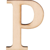 Wood Letters And Numbers 3.8cm 2/Pkg-P