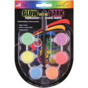 Glow In The Dark Fluorescent Paint Pots-Assorted Colours