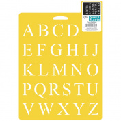 "Stencil Mania Stencil 18cm X10""-Times Alphabet"