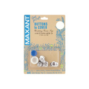 Maxant Button ADB1-20 Cover Button Kit-Size 20 1-2 in. 6-Pkg