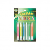 Face Paint Push Up Crayons 6/Pkg-Neon Colors