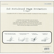 Top Loading 3-Hole Page Protectors 20cm x 20cm -10/Pkg With 2 Post Extenders & A Spacer