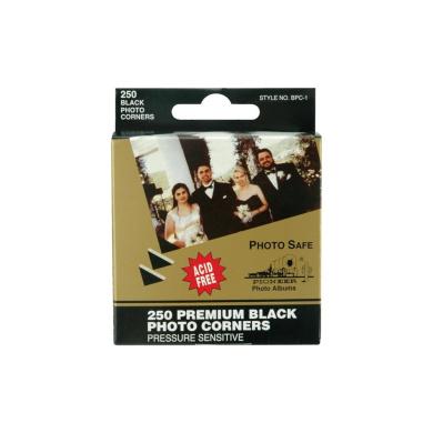 Premium Photo Corners Self Adhesive 250/Pkg-Black