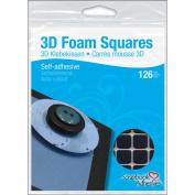 3D Self-Adhesive Foam Squares 126/Pkg-Black .13cm X.13cm