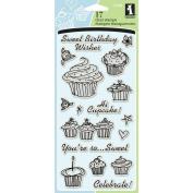 Inkadinkado Clear Stamps 10cm x 20cm Sheet-Birthday Cupcake