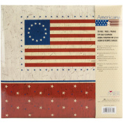 MBI American Flag Postbound Album, 30cm x 30cm