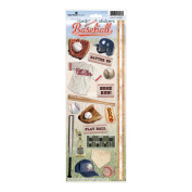 Paper House 403897 Paper House Cardstock Stickers-Baseball 2
