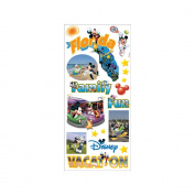 Disney Stickers/Borders Packaged-Mickey States Flo