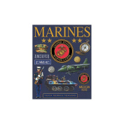 K & Company Military Deluxe Foil Embossed Stickers, Marines