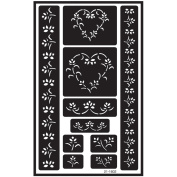 Over 'n' Over Reusable Glass Etching Stencils 13cm X8
