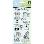 Inkadinkado Clear Stamps 10cm X20cm Sheet-Humorous Birthday