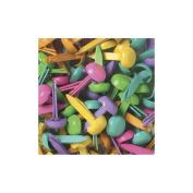 Doodlebug Mini Brads 0.3cm 100/Pkg-Bright