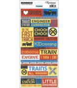Signature Series Travel Stickers-Trains Quote