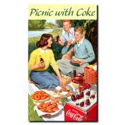 Picnic with Coke Stretched Canvas Art