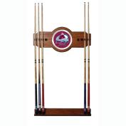 NHL Colorado Avalanche 2 piece Wood and Mirror Wall Cue Rack