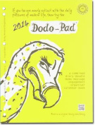 Dodo Pad A4 2/4 Ring/US Letter 3-ring/Filofax-compatible UNIVERSAL Diary Refill 2014 - Calendar Year Diary