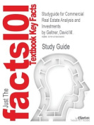 Studyguide for Commercial Real Estate Analysis and Investments by Geltner, David M., ISBN 9780324305487
