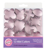 Wilton Easter 12pc Mini Metal Cookie Cutter Set