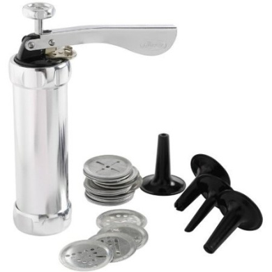 Mastrad Aluminium Cookie Press Donut Stuffer Churros Maker