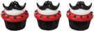 12 Fun Moustache Stache Bash Cupcake Rings Toppers Party Favours