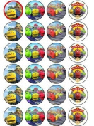 24 Chuggington Cupcake Wafer Toppers