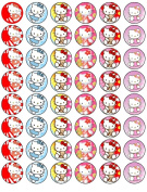 48 Hello Kitty Cupcake Wafer Toppers