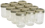 Kerr 0518 wide mouth mason jar pint, 470ml