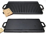 IWGAC 0166-10119 Old Mountain Cast Iron Preseasoned Two-burner Reversible GrillGriddle