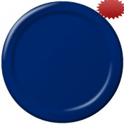 Creative Converting 22.2cm Diameter Round Paper Dinner Plates, Navy Colour, 24-Count Packages