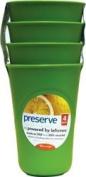 Preserve 470ml Plastic Cups, Apple Green, 4 Ct