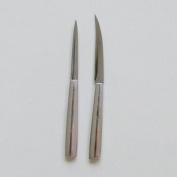 2 Pcs Carving Knife Set Sculpture for Food Fruit Knives Aluminium Handle