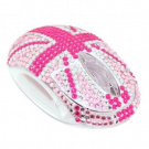Satzuma Diamante Mouse Great Britain - Pink