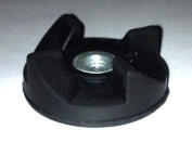 Four Black Rubber Gear and One Free Base Gear Replacement Part for Magic Bullet for Cross and Flat Blade