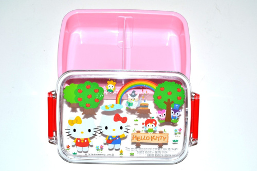 hello kitty magic forest bento lunch box w dividers huge saving. Black Bedroom Furniture Sets. Home Design Ideas