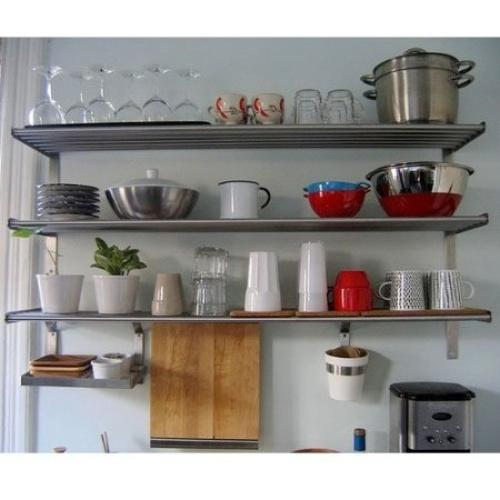 ikea grundtal long 1 kitchen shelf 1 rail and 10 hooks. Black Bedroom Furniture Sets. Home Design Ideas