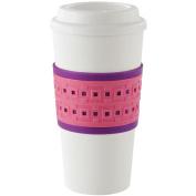 Copco 2510-0186 Acadia Reusable To Go Mug, Geo Design