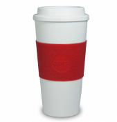 Copco Acadia Reusable Togo Mug Coffee Cup Holly Berry Red Limited Edition